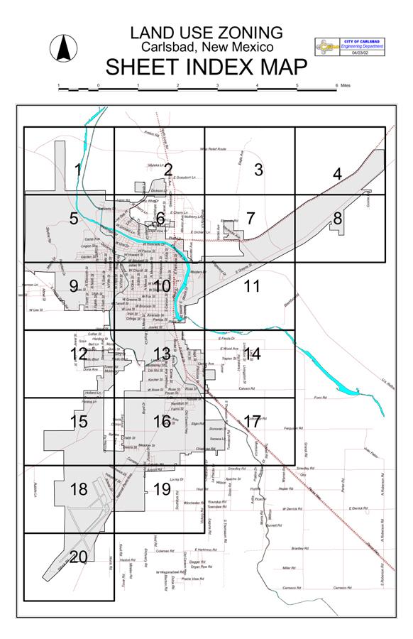 Carlsbad New Mexico Map Zoning Information Carlsbad